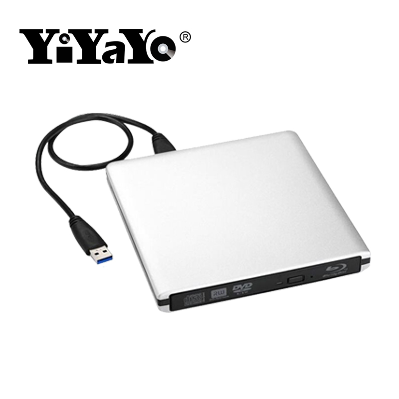 YiYaYo USB 3.0 Bluray Drive External Optical Drive BD-ROM DVD-ROM 3D Player CD/DVD RW Bu ...