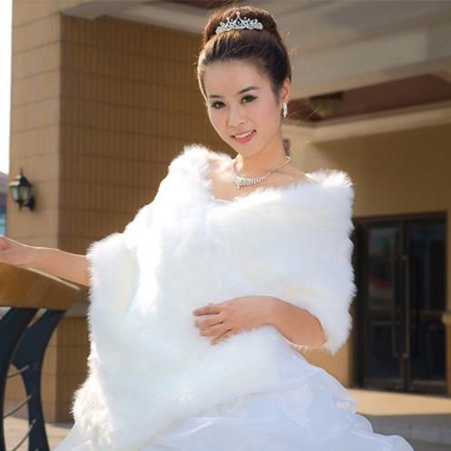 Venda Quente da pele do falso quente Casaco de Inverno Envoltório de Casamento Bolero de Casamento Jacket Nupcial Estolas Acessórios Do Casamento Casaco Capa ASPS-1027