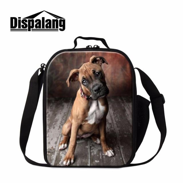 Dispalang моды обед кулер сумки милая собака печать изолированные обед пикник пищевых контейнеров для взрослых один shoudle сумки lunchbox