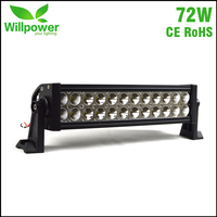 Combo Beam double rows combo beam 12 inch 72W straight 12 volt off road car led light bar
