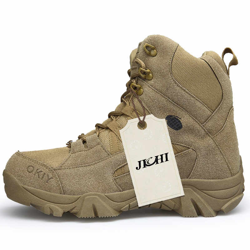Mùa Đông 2018 Thời Trang Quân Sự Giày nam Thoải Mái Mắt Cá Chân Giày Nam Giày Công Sở Quân Đội Sa Mạc Chiến Đấu Giày Nam Tuyết Giày