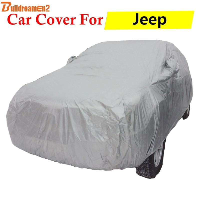 Buildreamen2 Full Car Cover Auto Outdoor Sun Rain Snow Scratch Resistant Cover Anti UV For Jeep