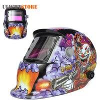 Clown With Submachine Gun Solar Grinding Welding Helmet Mask TIG MIG Electrowelding Auto Darkening Electric Welder