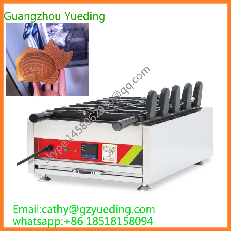Automatic goldfish ice cream taiyaki machine,digital taiyaki making machine