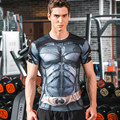 3D Printing Avengers Crossfit Batman Spiderman Mens T-Shirt Compression Shirts tops Men Tight elastic Quick-drying T shirts tees