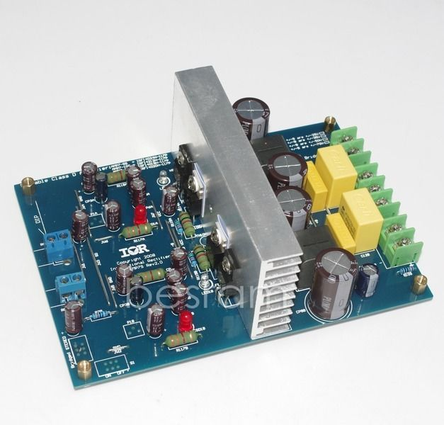Two-channel L15DX2 IRS2092 CLASS D power AMPLIFIER 125-500W 8R DC+-55V l15dx2 irs2092 iraudamp7s 125w 500w top class d amplifier finished board dual channel