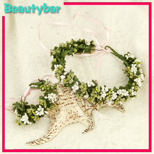Nice Bohemian Fresh Flower Garland Bridal And Bridesmaids Beach Wedding Dress Hair Accessory Bracelet In Jewelry From Accessories On