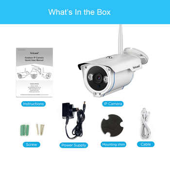 SRICAM SP007 1080P HD IP Camera WIFI Onvif 2.4 P2P for Smartphone Waterproof Vandalproof 15m IR Outdoor Home Security Camera
