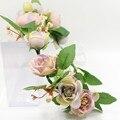 Coreia do trendy tiara da menina de flor cabeça guirlanda Floral flores artificiais bela elegância estilo grinalda fotografia ornamento