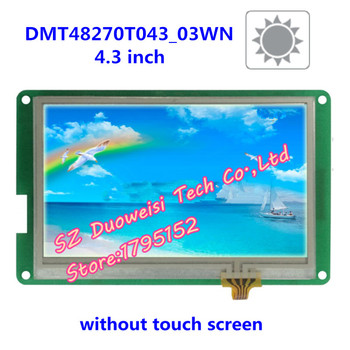DMT48270T043_03W 4.3 inch LCD screen, highlight the serial DGUS wide viewing angle non touch screen screen lcd   -