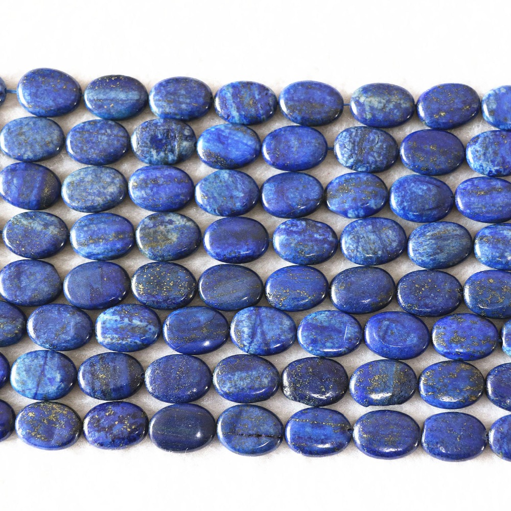 Natural Lapis lazuli stone 13x18mm oval diy jewelry Beads 15 inches ...
