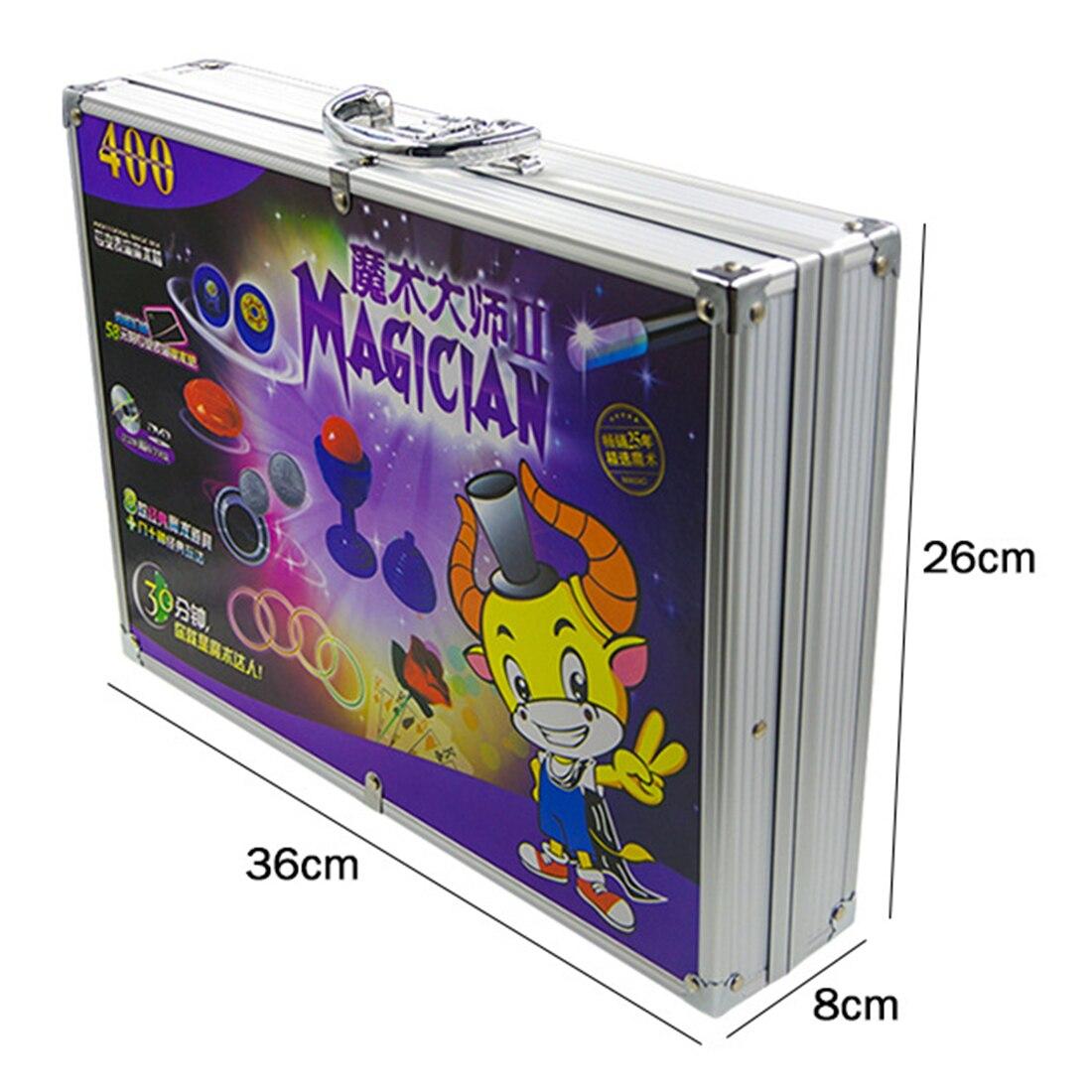 Jouet éducatif chaud de boîte-cadeau magique d'alliage d'aluminium réglé avec divers accessoires boîte-cadeau de jouet magique de gros plan des enfants pour des enfants - 5