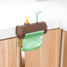 050 Multi-function Cartoon rabbit hanging wall garbage bag storage box 15*6.6*7cm