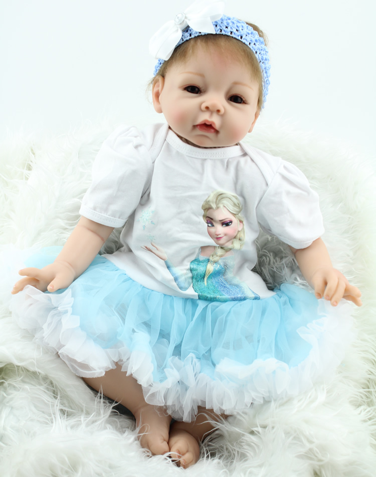 22New Soft Silicone Reborn Baby Doll  Girl Brinquedos Lifelike Vinyl Newbabies Doll Play House Bedtime Toys Birthday Gift ph015 puhui t 835 110v 220v bga irda welder infrared bga soldering and desoldering smd rework station t835