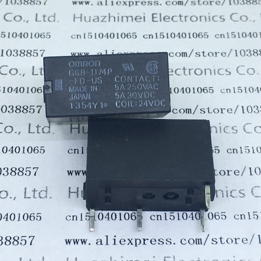Relays G6B-1174P-FD-US G6B-1174P G6B-1174P-FD-US-DC24V 24V 10pcs new original relay group g6b 4bnd with g6b 1114p fd us p6b 24vdc