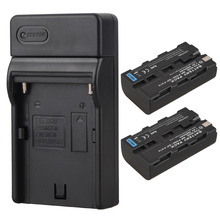 2xBatteries 2600mah NP F550 F570 Rechargeable Video Camera Batteria Pack For Sony NP-F550 NP-F570 Digital Li ion Battery+Charger