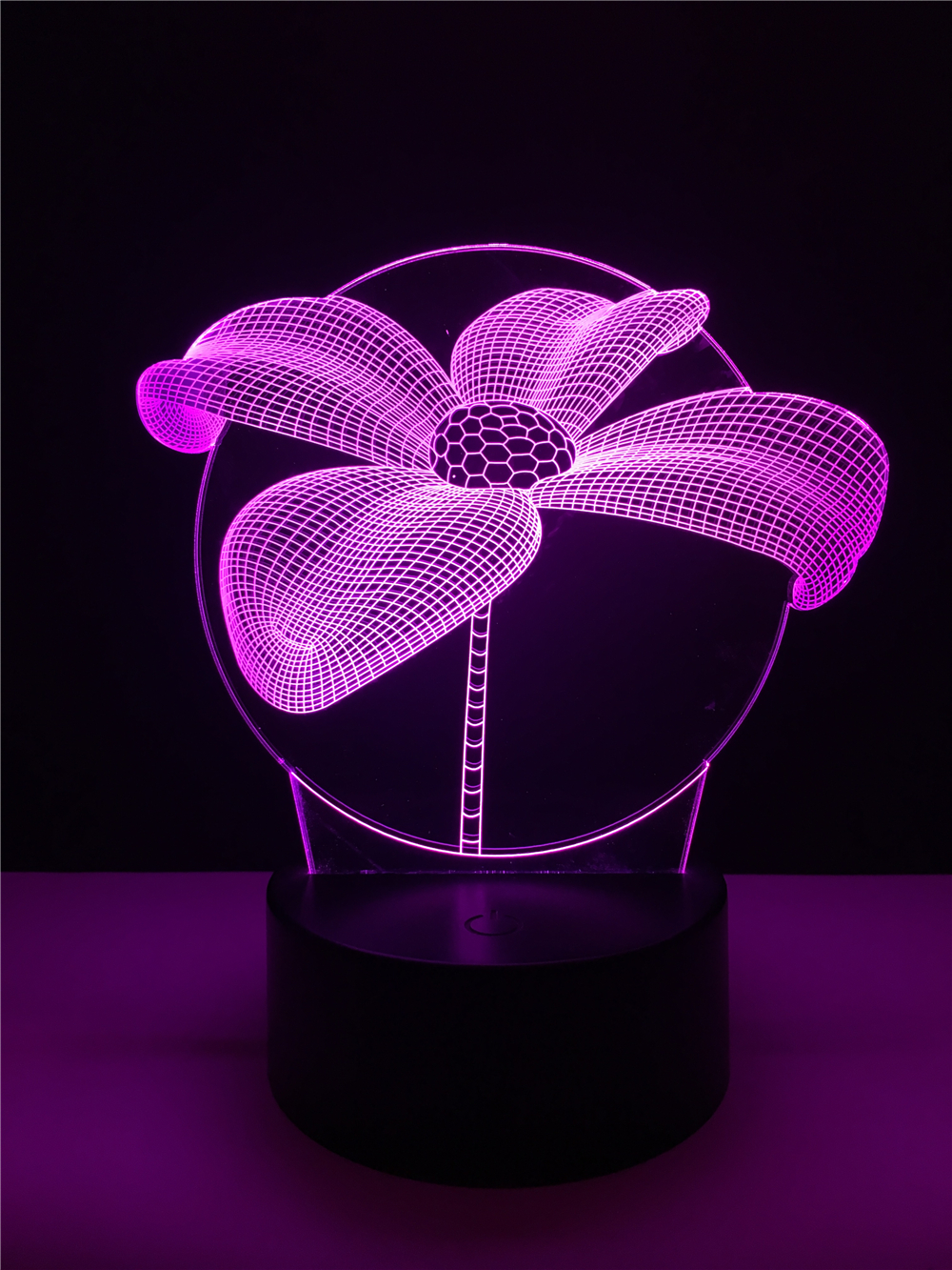 Luzes da Noite flor de lótus 3d noite Function 3 : Stage Lighting Effect/wedding Decor/house Decoration