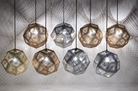 Dia 25cm/32cm/47cm Designer Lighting Etch Shade Suspension Pendant Lamps,Golden Stainless steel Shade Pendant Lights
