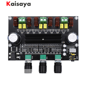 Image 1 - XH M573 TPA3116D2 80W+80W+100W 2.1 Channel TPA3116 digital Power Amplifier Board Bass Subwoofer hifi amplifiers B2 002