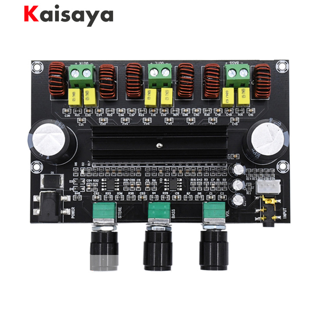 XH M573 TPA3116D2 80W+80W+100W 2.1 Channel TPA3116 digital Power Amplifier Board Bass Subwoofer hifi amplifiers B2 002