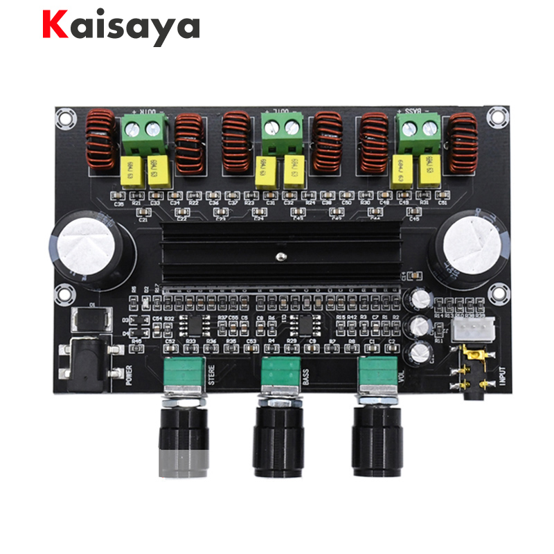 XH-M573 <font><b>TPA3116D2</b></font> 80W+80W+100W <font><b>2.1</b></font> Channel TPA3116 digital Power Amplifier Board Bass <font><b>Subwoofer</b></font> hifi amplifiers B2-002 image