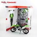 Дети Kawasaki KX 450F Сборочной линии авто модель мотоцикла металла diecast мотокросс спортивные автомобили двигатель подарки DIY игрушки для детей