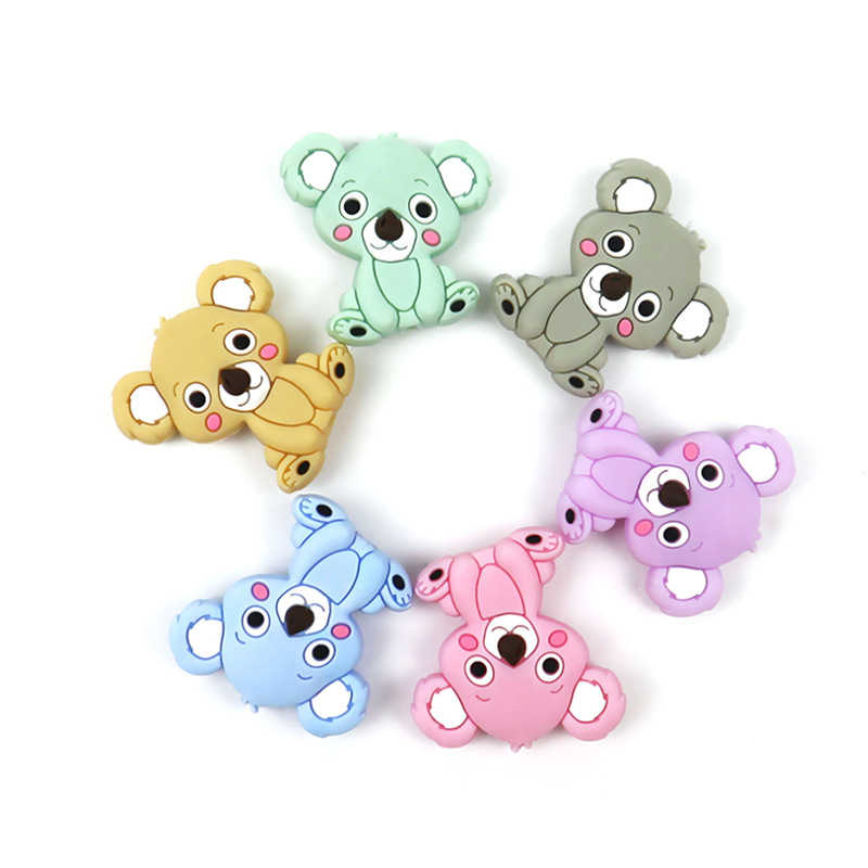Baby Silicone Teether Newborn Soother Chewable Teething Toy Cartoon Safety Soft Kids Toys
