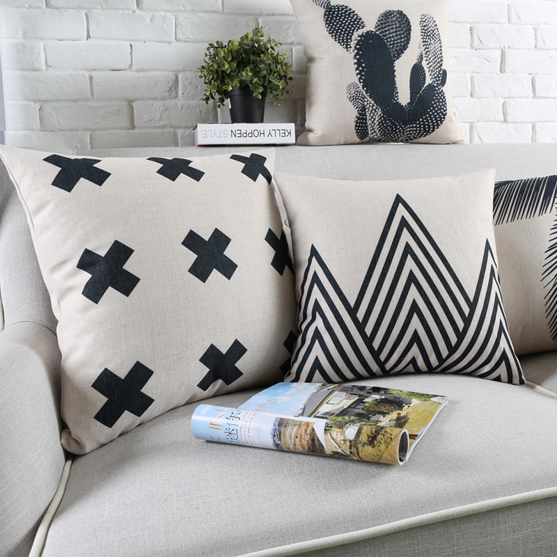 Outstanding Us 4 09 18 Off Scandinavian Style Cushion Tropical Throw Pillows Pineapple Decorative Pillows Cover Black White Decorative Pillows For Sofa In Dailytribune Chair Design For Home Dailytribuneorg
