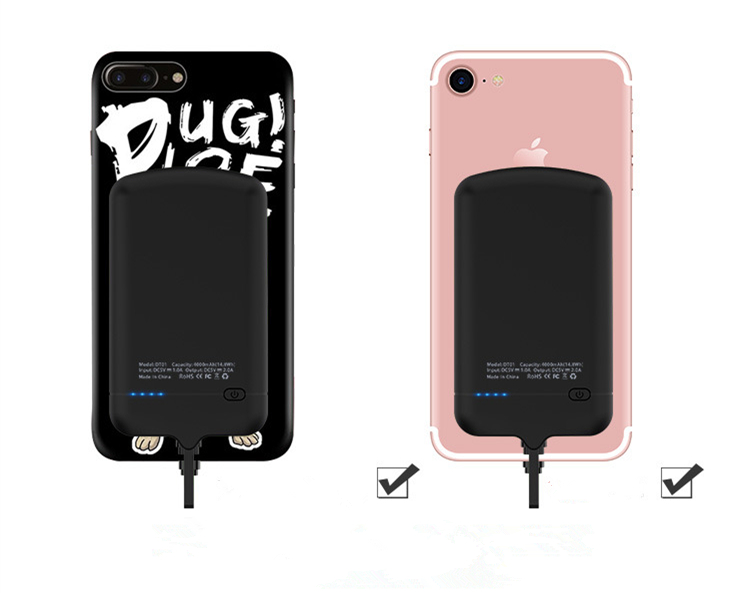 4000 MAh power case Charge Battery Charger Case Power Bank For Iphone for Samsung LG Sony HTC Xiaomi Charger Wire Android