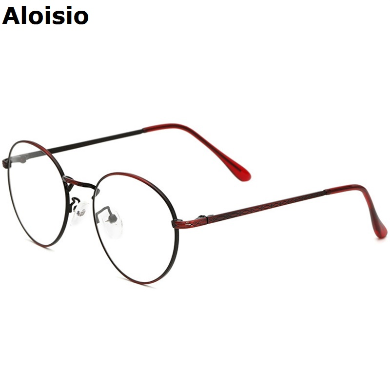 aloisio retro copper women eyeglasses frames glasses frame men top quality spectacle plain glass oculos marcos