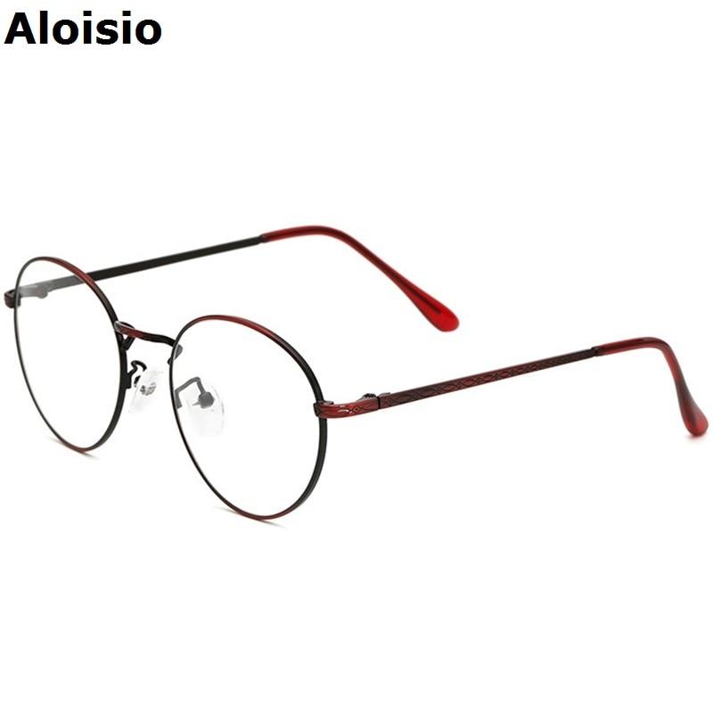 aloisio retro copper women eyeglasses frames glasses frame men top quality spectacle plain glass oculos marcos