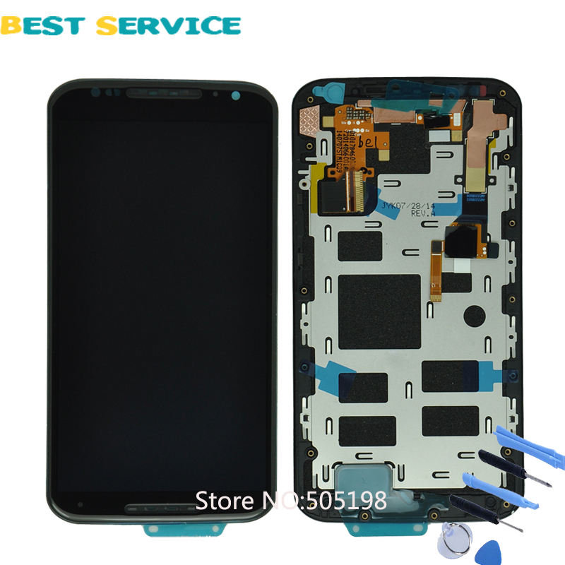 For Motorola MOTO X+1 X2 Victara XT1097 LCD Display Screen with Touch Digitizer Frame Assembly + Tools Free Shipping