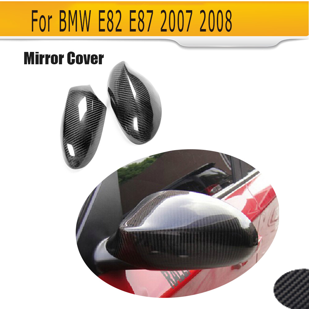 1 Series Rear view Mirror Covers Stickers Carbon Fiber for BMW E87 1 Series 2009 2010 2011 2012 Add On Style 1 1 replacement for bmw z4 e89 carbon fiber mirror cover 2009 2010 2011 2012 2013 z4 e89 30i 28i 20i 18i carbon