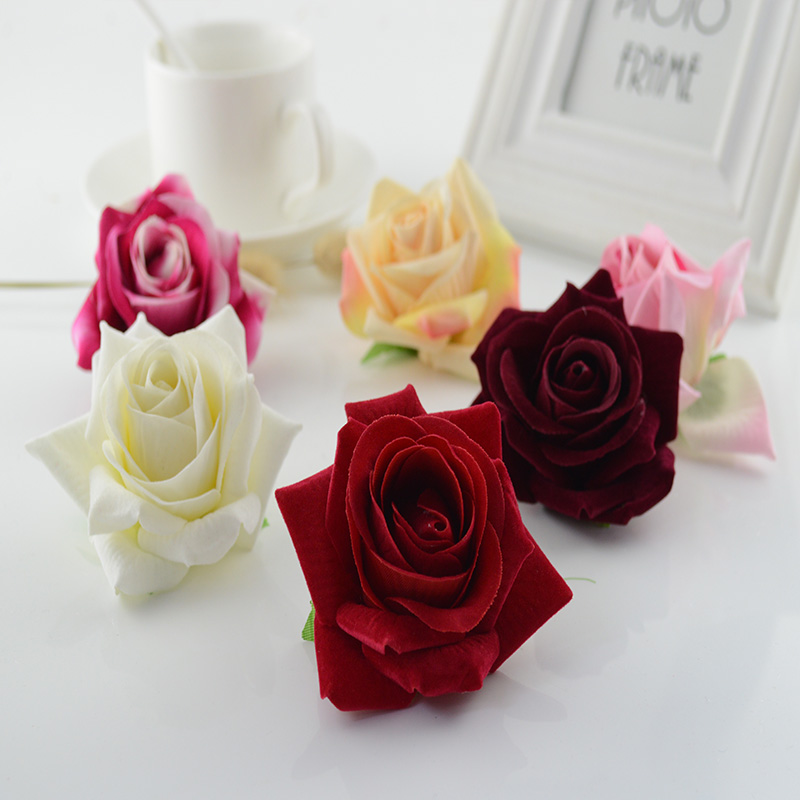 100pcs artificial flowers quality flannel 7cm christmas home wedding 100pcs artificial flowers quality flannel 7cm christmas home wedding decoration bridal accessories clearance silk roses head in artificial dried flowers mightylinksfo