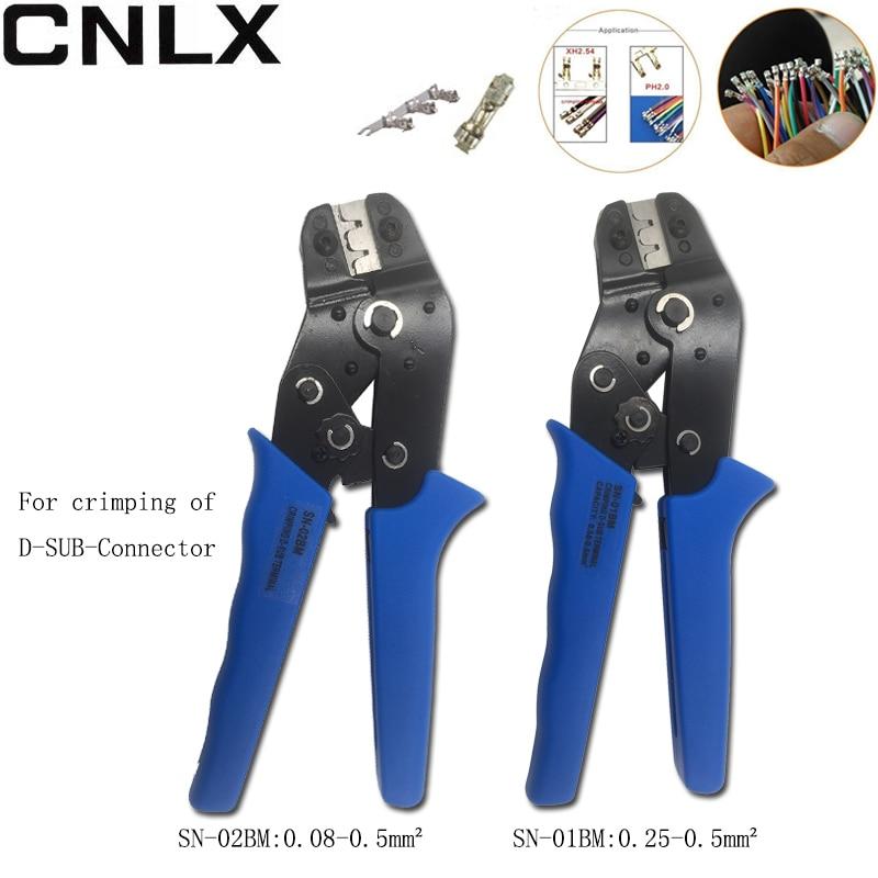 0,08-0.5mm2 Sn-02bm Gewidmet Crimpen Zangen Für Crimpen Von D-sub-stecker Von Sn-01bm 0,25-0.5mm2 Ratsche Terminal Crimpen Werkzeuge