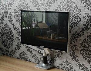Image 4 - Porta monitor lcd de alta qualidade, suporte para monitor de lcd, braço ultrafino de liga de alumínio, suporte de montagem com presilha de mesa, monitoramento de movimento completo