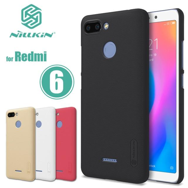 new product 4bb43 54f1c US $8.41 |Xiaomi Redmi 6 Case Nillkin Super Frosted Shield Redmi 6 Hard  Case Back Cover Nilkin Xiaomi Redmi 6 Phone Case +Screen Protector-in ...