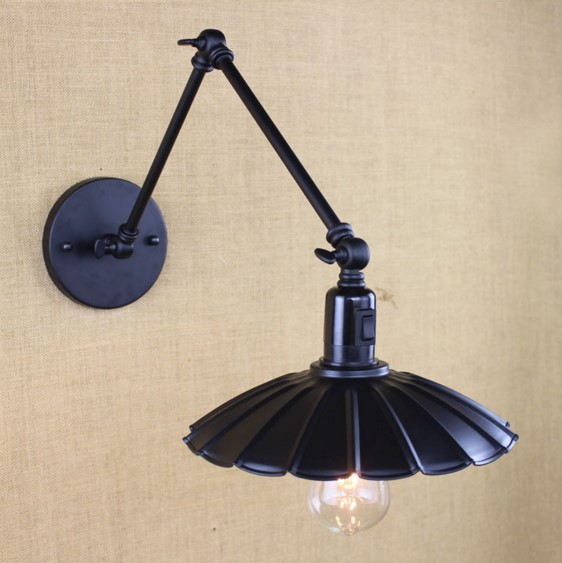 25cm Arm LED Wall Lamp In Style Loft Industrial Vintage Wall Light Arandela Lampara Pared Aplik Edison Wall Sconce glass wooden arm retro vintage wall lamp led edison style loft industrial wall light sconce home lighting appliques pared