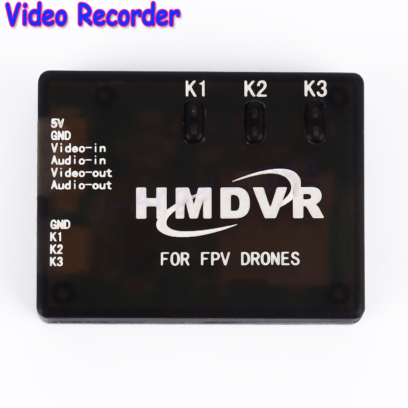 Wholesale 1pcs HMD VR Mini Digital Video Recorder 30fps for FPV Drones Quadcopter free shipping hmdvr mini digital audio video recorder 30fps for fpv drones quadcopter qav250 kvadrokopter rc drone