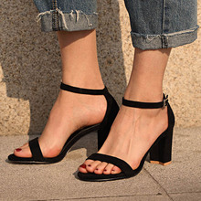 Women Ankle Strap Gladiator Sandals Ladies Summer Chunky Hee