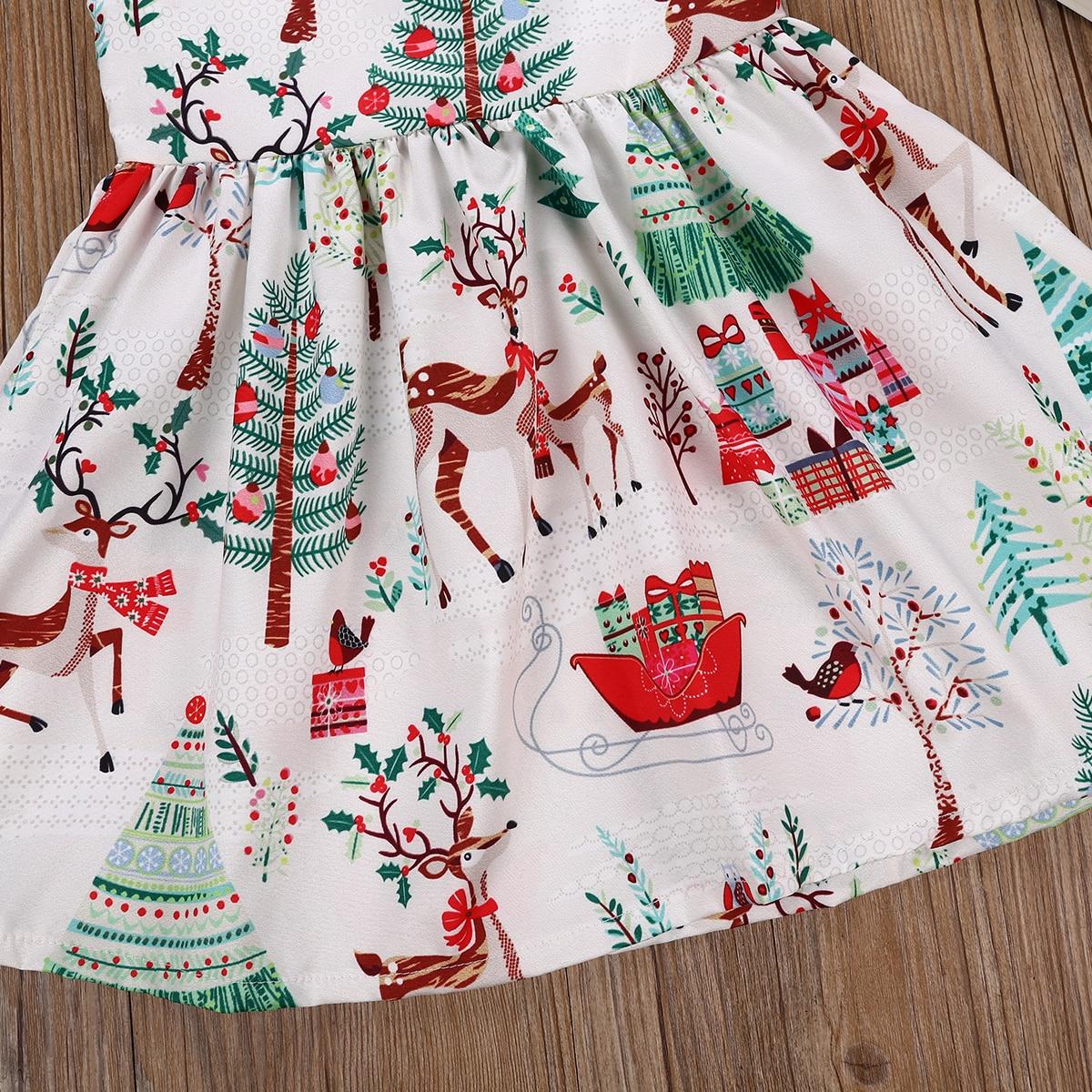 579954fcb 2-6 Years Xmas Toddler Kid Baby Girl Christmas Cartoon Deer Sleeveless  Party Dress 3