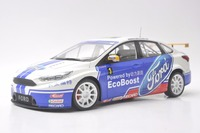 1:18 Diecast Model for Ford Focus CTCC Racing Car Rare Alloy Toy Sedan Miniature Collection Gifts Freestyle