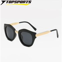 TOPSPORTS Polarized Women Beach  Sunglasses Metal PC  Frame Eyeglasses TAC pattern Reflective Lens Glasses  UV400