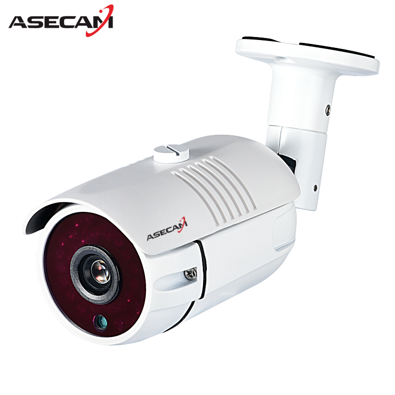 New HD 1080P IP Camera IMX323 H.265 48V POE CCTV HI3516C Bullet White Metal Waterproof Network Onvif P2P Security Surveillance 5mp ip bullet camera h 264 h 265 compression 3 6mm fixed hd lens support poe p2p onvif