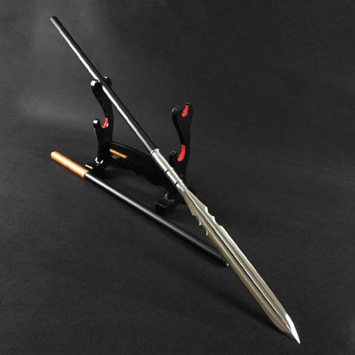 "82 ""handgemaakte Chinese Mangaan Staal Wushu Spear Kung Fu Zwaard Dao Fijne Stalen Staaf"