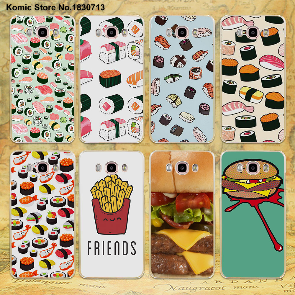 Japanese Sushi vs Hamburger design clear phone Case for Samsung galaxy J3 2016 J1 J2 prime J510 J7 J5(2017) ...