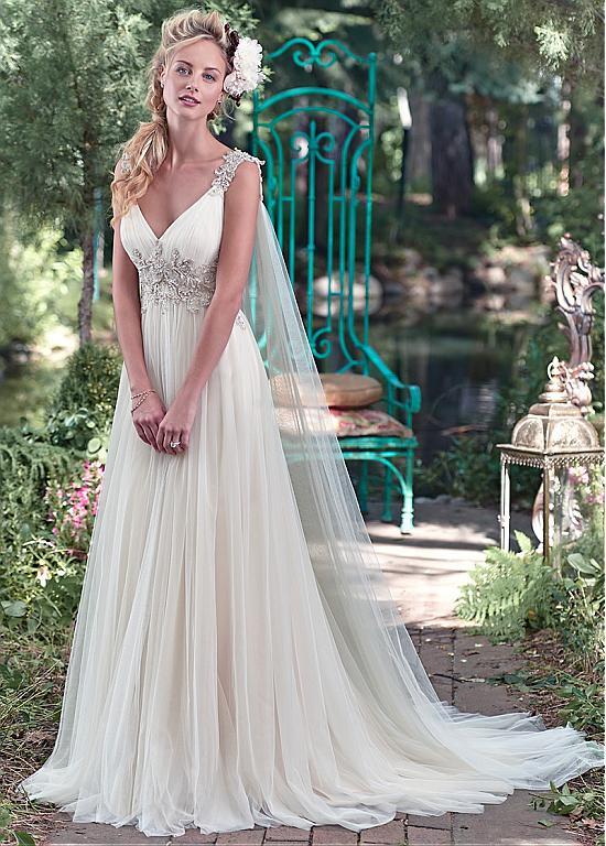 2016 Summer Greek Style Sheath Beach Wedding Dresses Appliques