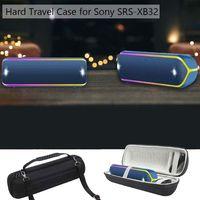 Mais novo 1 pcs Rodada Caso EVA Rígido de Proteção À Prova de Choque Caixa para Sony SRS XB32 Extra Bass Bluetooth Speaker Portátil|Acessórios de caixas de som| |  -