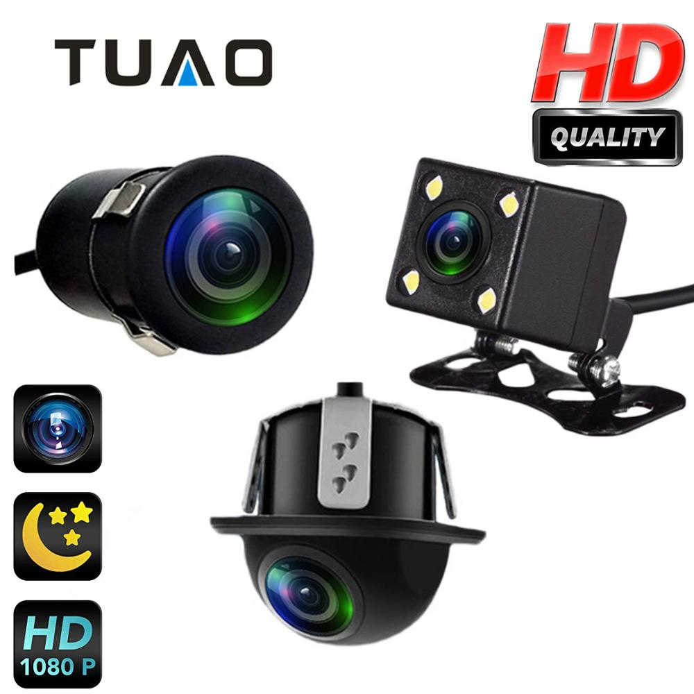 TUAO 145 Angle Car Rear View Camera HD Night Vision Reverse Camera IP67 DC 12V/24V Universal Autoradio Vehicle Parking Camera