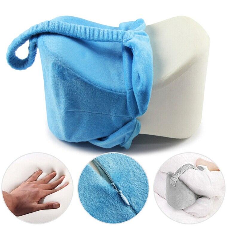 Подушка из пены с эффектом памяти, подушка для ног, подушка для тела, подушка для тела, подушка для путешествий под коленом, приспособление для сна, радикулит, боль в спине, поддержка 5 - Цвет: Синий